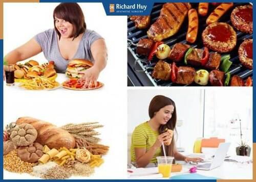 Ăn quá nhiều đồ dầu mỡ, thức ăn nhanh