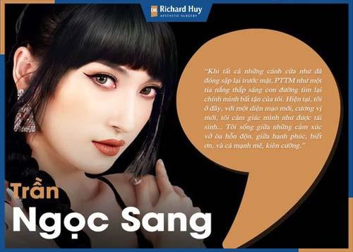 Trần Ngọc Sang tự tin với vẻ đẹp hiện tại của mình