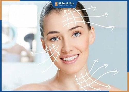 Kéo căng da, loại bỏ tình trạng lão hóa chảy xệ trên gương mặt