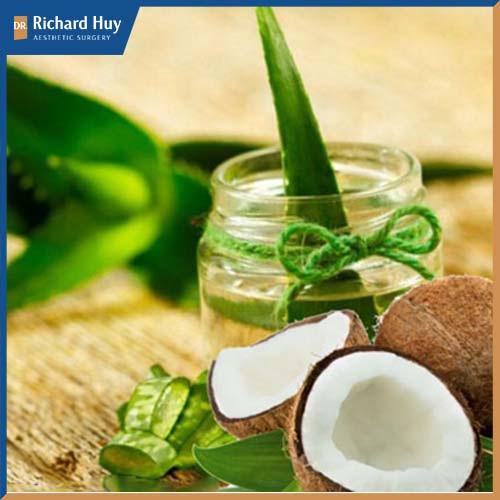 Nha đam, dầu dừa là sự kết hợp hoàn hảo cho làn da khô