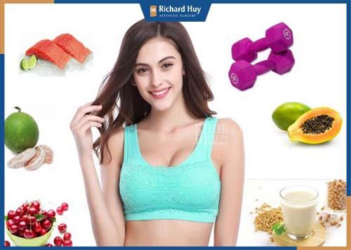 Để tăng kích thước vòng 1 cần bổ sung đầy đủ lượng đạm, vitamin khoáng chất, đặc biệt thực phẩm chứa nhiều Isoflavones