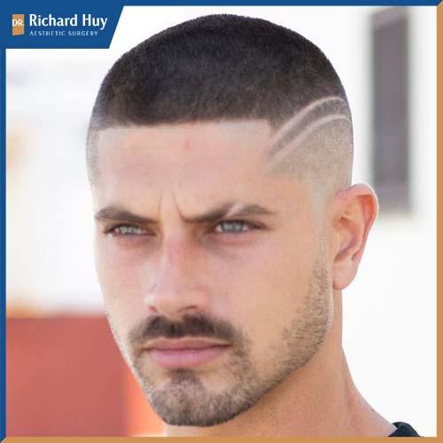 Kiểu tóc phù hợp với những chàng trai cá tính, khỏe khoắn năng động