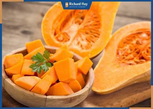 Bí đỏ có hàm lượng caroten có tác dụng dưỡng trắng