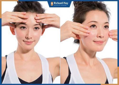 Phương pháp hỗ trợ lưu thông máu, ngoài ra giúp khắc phục tình trạng gò má thấp trên gương mặt