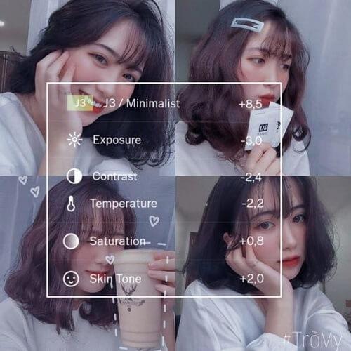 Công thức VSCO : Tone selfie bánh bèo hột é