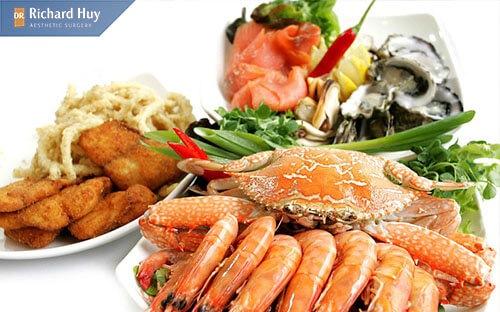 Hạn chế ăn các đồ hải sản