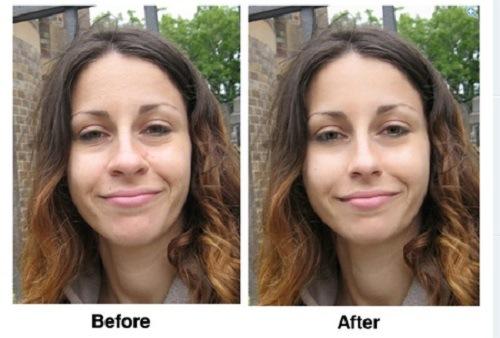 Pixtr giúp bạn làm đẹp gương mặt tự động theo những công cụ có sẵn