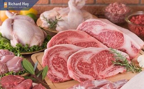 Thịt bò sẽ làm vết thương ngứa ngáy khó chịu.