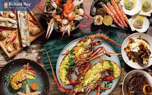 Không ăn thực phẩm phẩm gây dị ứng, viêm da làm vết thương lâu lành: Hải sản, đồ nếp hay rau muống